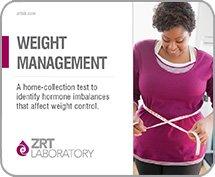 Perfil de gestión peso ZRT - en casa Saliva y sangre peso pérdida hormonal prueba Kit - incluye médica oficial de revisión (MRO) envío de la devolución de resultados y muestra prepago
