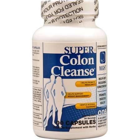Health Plus Súper Colon Cleanse Formula Noche 90 Cápsulas