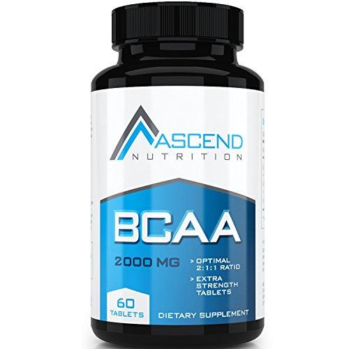 #1 más potente BCAA aminoácidos comprimidos - suplemento de entrenamiento esencial para construir la masa muscular, reducir el músculo desglose y promover entrenamiento recuperación rápida - 1000 mg por tableta con probada 2: relación 1:1 de L-leucina, L-