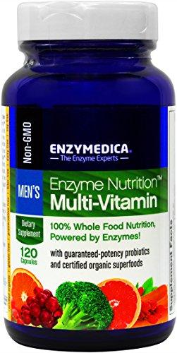 Enzima nutrición - vitaminas de los hombres - 100% alimentos nutrición, 120 cápsulas (FFP)
