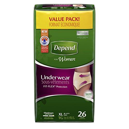 Dependen para mujeres incontinencia ropa interior, máxima absorbencia, X-grande 26 cuenta