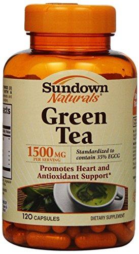 Cápsulas de té verde de Sundown Naturals, 1500 mg, 120 cuenta