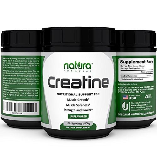 VENTA | #1 pure creatina micronizada monohidrato polvo - 100 porciones | 500g - sin sabor - mejor suplemento de culturismo para aumentar la energía, reducir el dolor y construir masa muscular