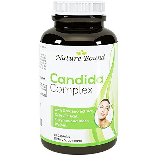Puro Candida Cleanse + Super Detox - dosis potente ● apoyo bienestar internos ● proteasa y celulasa enzimas suplemento - USA hecho por la naturaleza con extracto de ácido caprílico y orégano ● destino