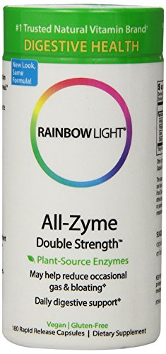 Fuerza del doble arco iris luz todo-Zyme, 180 Caps de liberación rápida