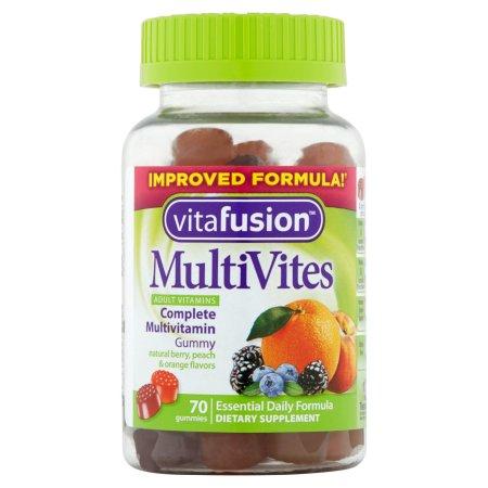 Vitafusion Multi Vites Para adultos gomitas de los Suplementos Dietéticos 70 ct
