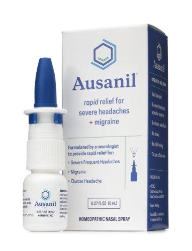 Ausanil Spray Nasal para el rápido alivio de dolores de cabeza severos + migraña (menos de 70c / dosis, hasta 50 dosis por botella). Formulado por un neurólogo para tratar su dolor de la migraña.