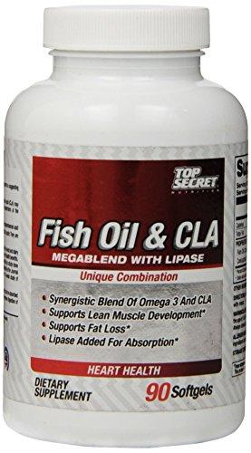 Aceite de pescado de nutrición secreto superior y Cla con geles suaves de lipasa, 90 cuentan