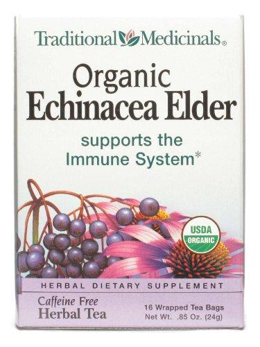 Tradicionales medicinales equinácea más saúco 16 bolsas de té envuelto