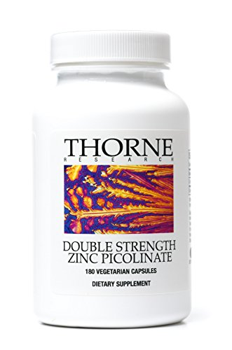 Thorne Research - doble fuerza Zinc picolinato - 180 cápsulas vegetarianas