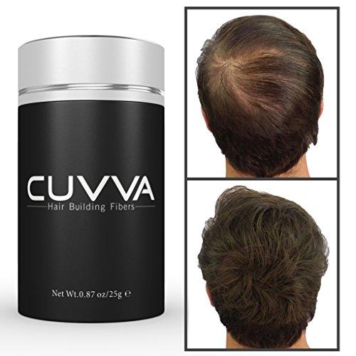 Fibras del pelo - #1 corrector de la pérdida de cabello para el adelgazamiento del cabello - edificio de pelo marrón oscuro las fibras para ambos hombres y mujeres - Cuvva Productoss Peinado Cabello instantáneamente hace mirada de cabello fino más grueso