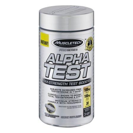 MuscleTech Pro Series AlphaTest rápido cápsulas de liberación suplemento dietético, 120 recuento