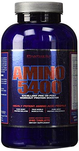 Tabletas de 5400 Panthera Labs Amino, cuenta 240
