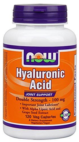 Ácido hialurónico ahora alimentos 2 X Plus cápsulas Veg, 100 mg, 120 cuenta