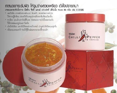 Mistine chiles y pimienta ajuste de cuerpo reafirmante adelgazante reducen celulitis crema Gel