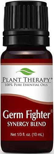 Mezcla de aceite esencial de germen Fighter sinergia. 10 ml. 100% puro, sin diluir, terapéuticas grado. (Mezcla de: limón, clavo Bud, corteza de canela, eucalipto y Romero)
