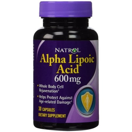 Natrol ácido alfa lipoico 600 mg Cápsulas 30 ea (Pack de 2)