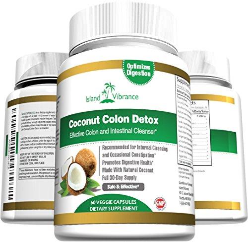 Coco Colon Detox suplemento Super fórmula para limpieza y pérdida de peso - mejor todos limpiador digestivo diario Natural y desintoxicante para el mantenimiento y Flushing de impurezas y toxinas - 60 cápsulas vegetales