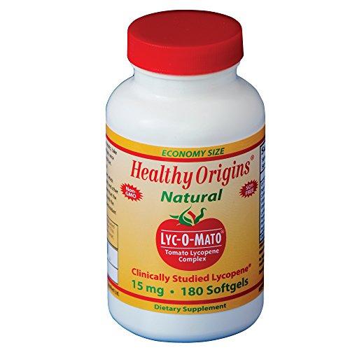 Origen sano lejía-O-Mato licopeno, 15 Mg, 180 cuenta