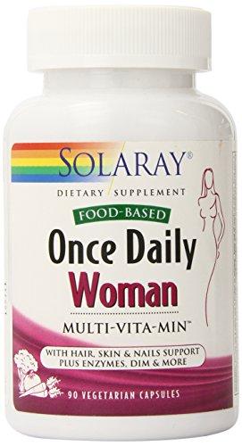Solaray una vez diaria cápsulas multivitamínico para la mujer, cuenta 90