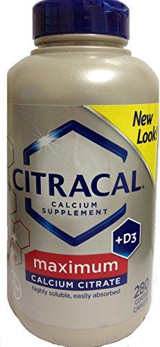 Citrato de calcio Citracal Bayer Plus máximo D3 recubiertos cápsulas, cuenta 280
