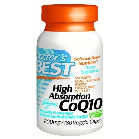 Doctor's Best Alta absorción CoQ10 200 mg, cápsulas vegetales, 180 Ct