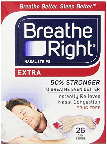Breathe tiras Nasal derecha, caja Extra, cuenta 26
