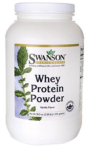 Suero de leche proteína en polvo 36. 5 oz sabor a vainilla (1.035 gramos)