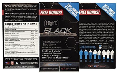 Alto negro T - cápsulas de testosterona Booster - fórmula Pre entrenamiento Hardcore músculo - bono tamaño 152