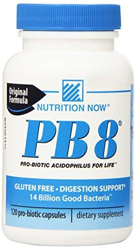 Nutrición ahora Pb 8 Pro-bióticos Acidophilus - 120 cápsulas (120)
