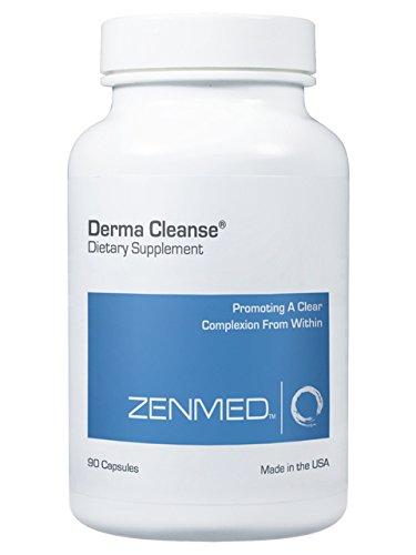 ZENMED Derma Cleanse capsulas, mejor todo Natural del acné tratamiento suplemento 60 pastillas