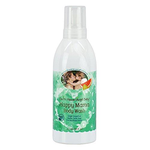 Mama tierra Angel Baby Happy Body Wash fresco jabón de Castilla litro, cítricos jengibre, 34 onzas líquidas