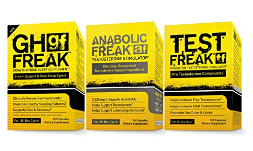 (1) PharmaFreak Test Freak Booster (1) PharmaFreak Freak anabolizantes testosterona testosterona y friki de GH (1) - suplemento de dormir | PILA DE SUPLEMENTO DE CULTURISMO | Ácido D-aspártico, alholva, Tribulus, 5-HTP, ortiga