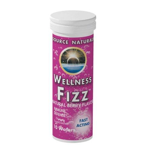 Source Naturals bienestar Fizz, baya Natural sabor, 10 obleas