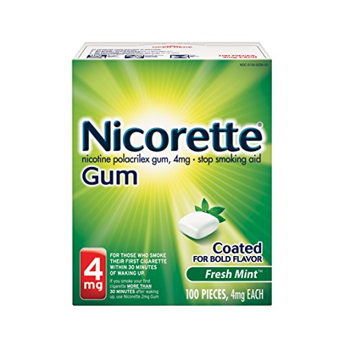 Nicorette chicle de nicotina menta fresca 4 mg dejar de fumar ayuda 100 cuenta