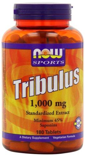 AHORA alimentos Tribulus 1000mg, extracto de 45%, 180 comprimidos