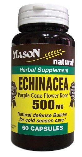 3 paquete especial de MASON NATURAL ECHINACEA 500MG cápsulas 60 por la botella
