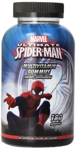 Marvel Spiderman completa multi-vitamina gomitas, cuenta 180