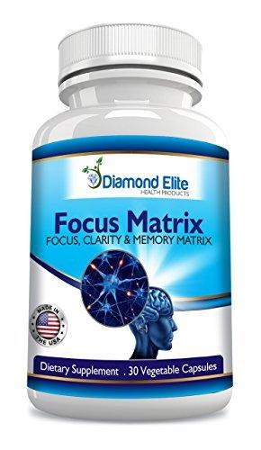 Matriz de enfoque de Diamond Elite es un Super potente & cerebral, memoria y mente Booster Natural esa claridad Mental de soportes, foco, y memoria - aumenta la energía y ayuda a reducir la depresión y la ansiedad - todo Natural cerebro función booste