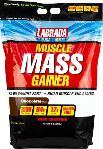Labrada nutrición muscular Gainer masa, Chocolate, 12 libras
