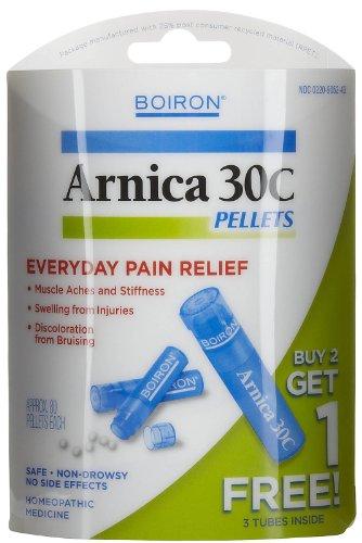 Boiron - árnica 30c dolor alivio pastillas comprar 2 obtener 1 gratis valor Pack 3 x 80 gránulos