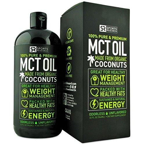 MCT aceite derivado sólo de cocos orgánicos - 32oz BPA gratis botella | El único aceite MCT Paleo seguro de certificados y registrados por la Vegan Society. No-GMO y libre de Gluten.