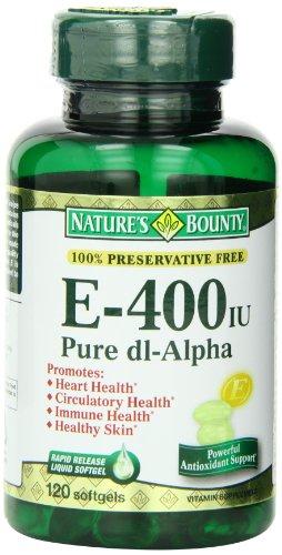 Bounty vitamina E de la naturaleza 400IU, 120 Softgels (paquete de 3)