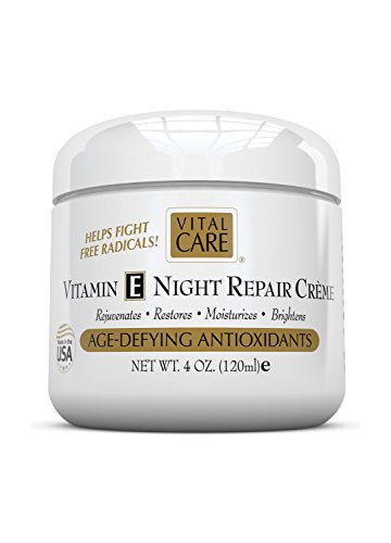 Vitamina E Night Repair Creme, cuidado Vital edad desafiando antioxidantes, 4 0z