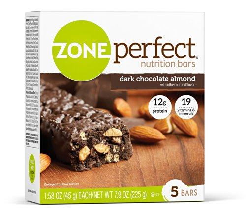 Zona perfecta nutrición Bar, almendra Chocolate oscuro, cuenta 30, onza 1,58