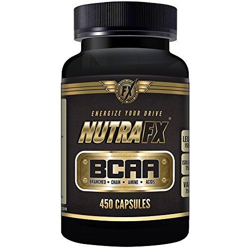 Nutrafx Bcaa capsulas 3000 Mg 450 cápsulas Pre entrenamiento y píldoras de pérdida de peso