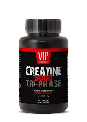 Mezcla de premuim de Creatines - creatina Tri-fase 5000mg, monohidrato de creatina, creatina HCL y piruvato de creatina (1 frasco 90 tabletas)