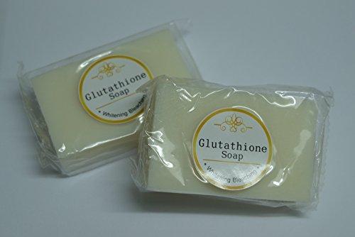 Jabón de glutatión blanquear blanquear 70 Gms profesional que blanquea el jabón hecho a mano Super blanco Pack 2 bares ahorrar más del 25%
