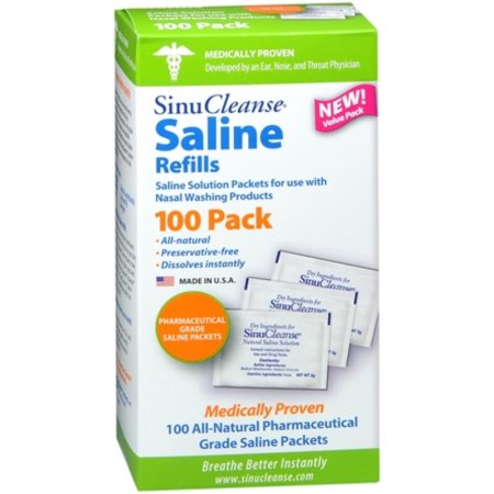 SinuCleanse Saline recargas 100 Cada (Pack de 3)