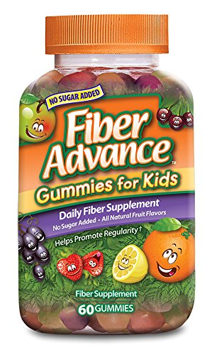 FiberAdvance para niños gomitas, cuenta 60 (paquete de 3)